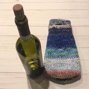 Wine Bottle Carrier Cozy OOAK